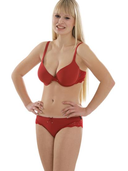 Comazo Unterwäsche, Jazz-Pants für Damen in rot - Gesamtansicht