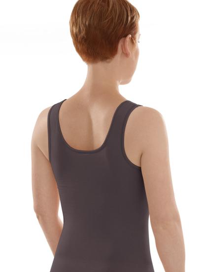 Comazo Biowäsche, Unterhemd Achselträger für Damen in anthrazit - Rückansicht