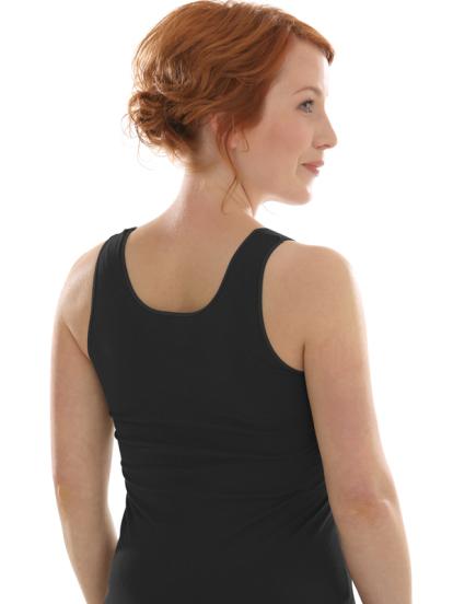 Comazo Biowäsche Unterhemd für Damen in schwarz