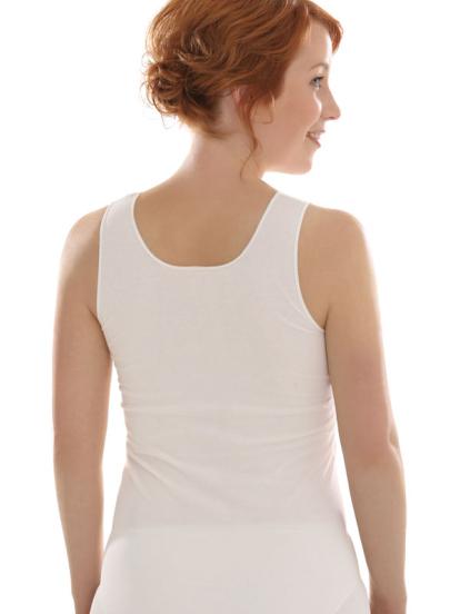 Comazo Biowäsche Unterhemd für Damen in offwhite