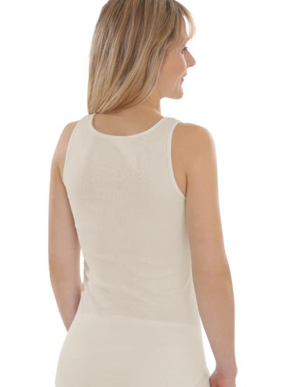 Comazo Biowäsche, Unterhemd Achselträger für Damen in bio-natur