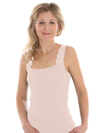 Comazo Biowäsche, Achselträger Unterhemd für Damen in Make-Up