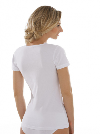 Comazo Unterwäsche, Kurzarm Shirt für Damen in weiss - Rückansicht