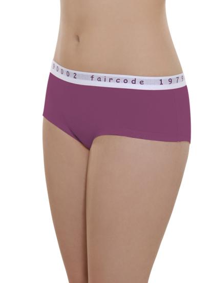 Comazo Biowäsche, Hot Pants low cut für Damen in plum - Vorderansicht