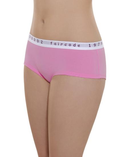 Comazo Biowäsche, Hot Pants low cut für Damen in pink - Vorderansicht