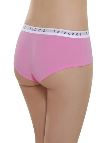 Comazo Biowäsche, Hot Pants low cut für Damen in pink - Rückansicht