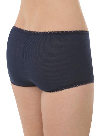 Comazo Biowäsche, Hot Pants für Damen in marine - Rückansicht