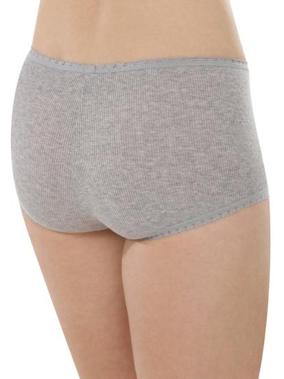 Comazo Biowäsche, Hot Pants für Damen in grau-melange - Rückansicht
