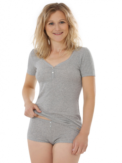 Comazo Biowäsche, Hot Pants für Damen in grau-melange - Gesamtansicht