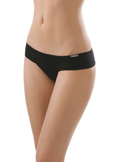 Comazo Unterwäsche, String low-cut für Damen in schwarz - Vorderansicht