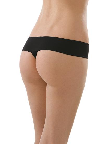 Comazo Unterwäsche, String low-cut für Damen in schwarz - Rückansicht