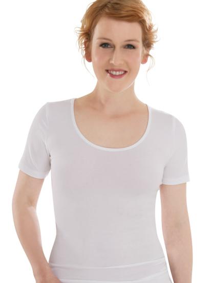 Comazo Biowäsche, Shirt für Damen in weiss - Vorderansicht