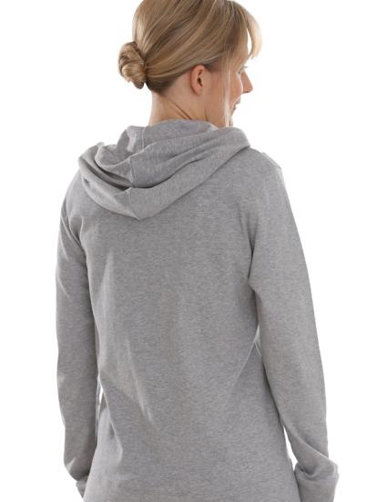 Comazo Biowäsche, Jacke Kapuze für Damen in grau-melange - Rückansichtansicht