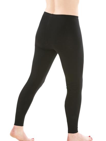 Comazo Biowäsche,  Leggings für Damen in schwarz - Rückansicht