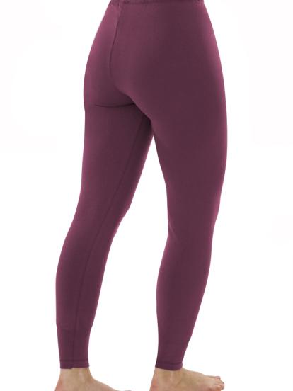 Comazo Biowäsche, Leggings für Damen in brombeer - Rückansicht