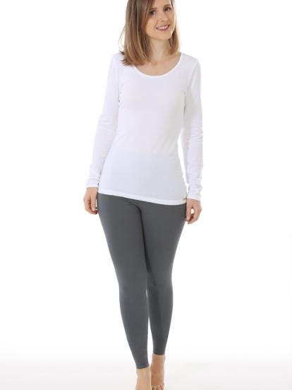 Comazo Biowäsche, Langarm Shirt für Damen in weiss - Gesamtansicht