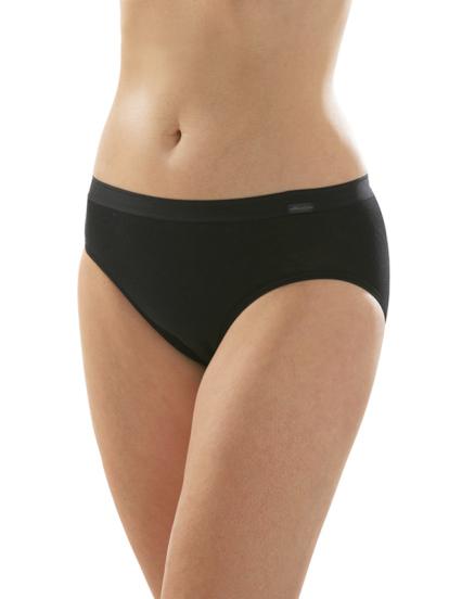 Comazo Unterwäsche, Midi-Slip für Damen in schwarz - Vorderansicht
