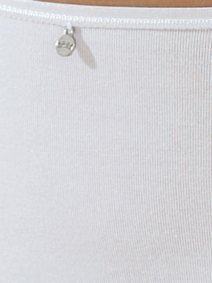 Comazo Unterwäsche, Unterhemd für Damen in weiss - Detailansicht
