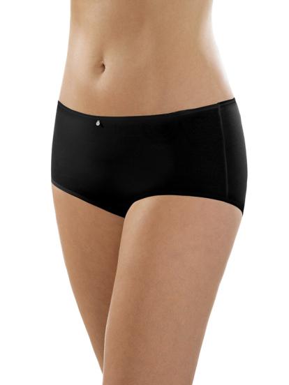 Comazo Unterwäsche, Maxi-Slip für Damen in schwarz - Vorderansicht