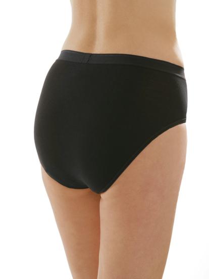 Comazo Unterwäsche, Slip für Damen in wschwarz - Rückansicht