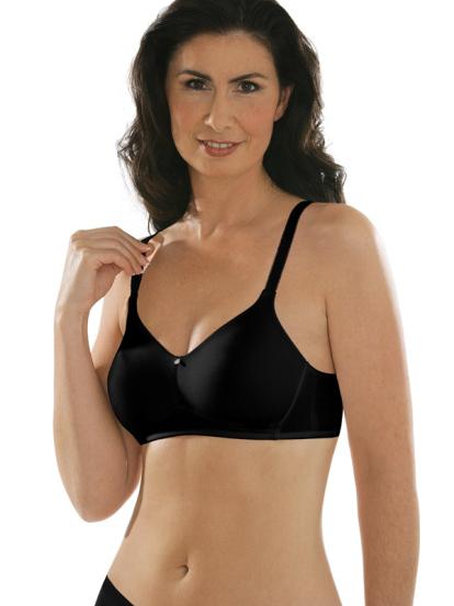 Comazo Unterwäsche, BH ohne Bügel für Damen in schwarz - Vorderansicht