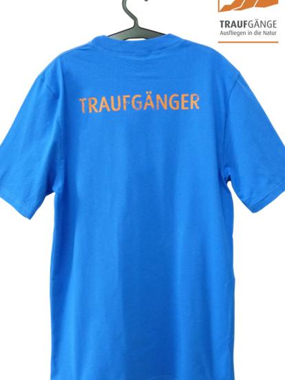 Comazo Biowäsche, Kurzarm Shirt für Herren in blau- Rückansicht