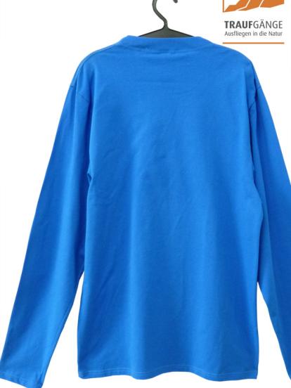 Comazo Biowäsche, Langarm Shirt für Herren in blau- Rückansicht