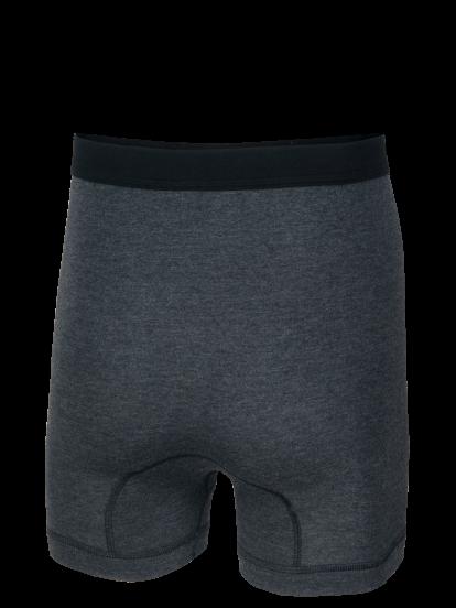 Unterhose kurz mit Eingriff graumeliert Rückseite