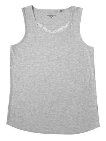 Comazo Lieblingswäsche Homewear Damen Top in grau