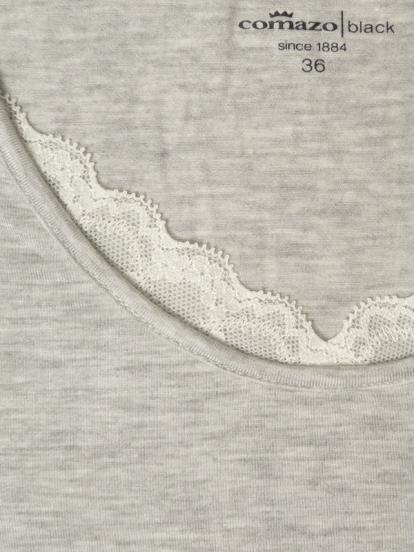 Comazo Lieblingswäsche Homewear Damen Shirt  langarm in grau