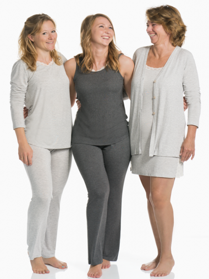 Comazo Lieblingswäsche Homewear Damen Hose lang in anthrazit