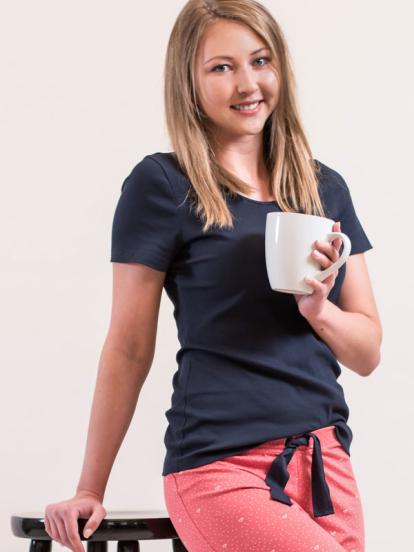 Comazo Lieblingswäsche Damen Basic Shirt in marine