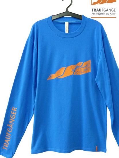 Comazo Biowäsche, Langarm Shirt für Herren in blau- Vorderansicht