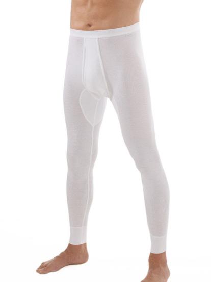 comazo|platin Unterwäsche, Unterhose lang in weiss - Vorderansicht