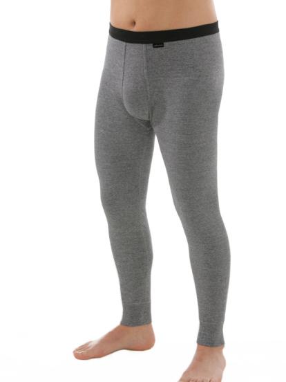 Lange Unterhose mit Eingriff grau, Vorderseite