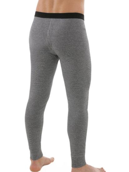 Lange Unterhose mit Eingriff grau, Rückseite