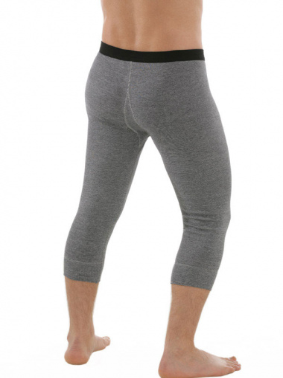 Unterhose 3/4 lang mit Eingriff grau Rückseite