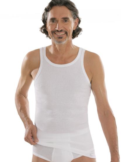comazo|platin Unterwäsche, Unterhemd in weiss - Vorderansicht