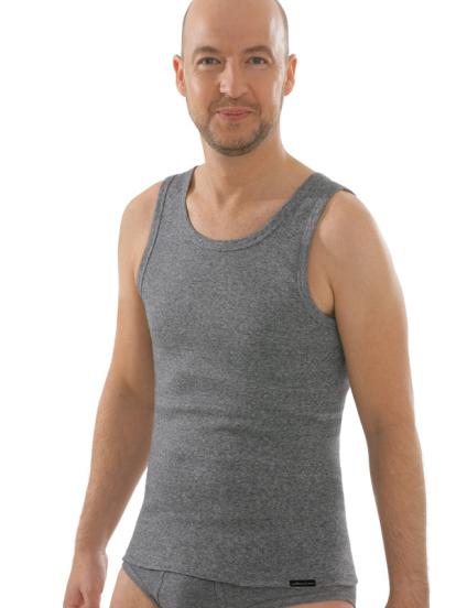 Seamlessshirt ohne Arm, grau, Vorderansicht