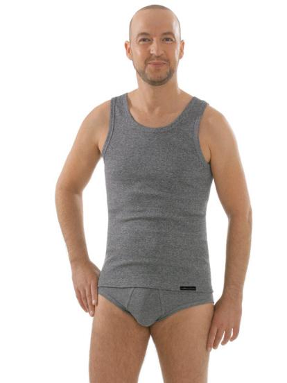 Seamlessshirt ohne Arm, grau, Gesamtansicht