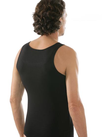 comazo|black Unterwäsche, Unterhemd in schwarz - Rückansicht