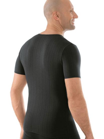 Comazo Unterwäsche, Shirt kurzarm schwarz - Rückansicht