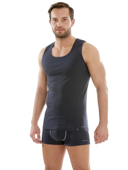 Comazo Biowäsche, Kurzarm Shirt in navy - Gesamtansicht