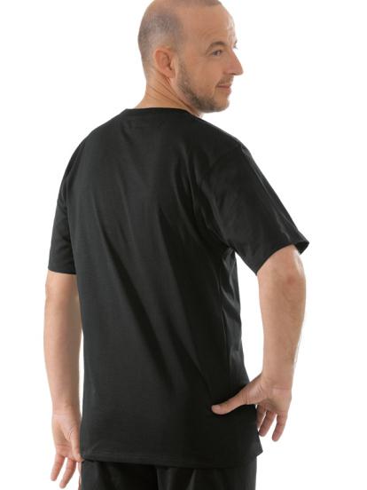 Comazo Unterwäsche, T-Shirt American Style in schwarz - Rückansicht