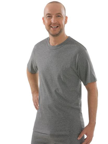 Comazo Unterwäsche, T-Shirt American Style in mittelgrau-melange - Vorderansicht
