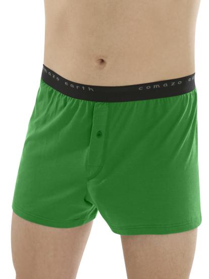 Comazo Biowäsche Fairtrade Boxer-Shorts in grün_ Vorderansicht