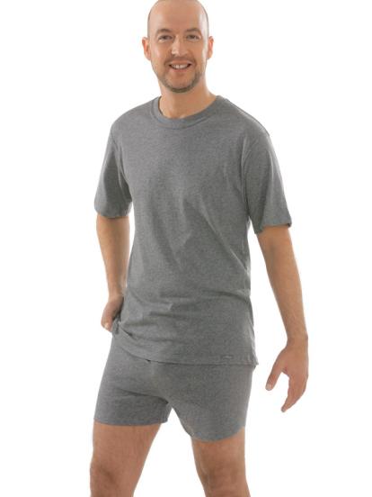 Comazo Unterwäsche, Boxer-Shorts in mittelgrau-melange - Gesamtansicht
