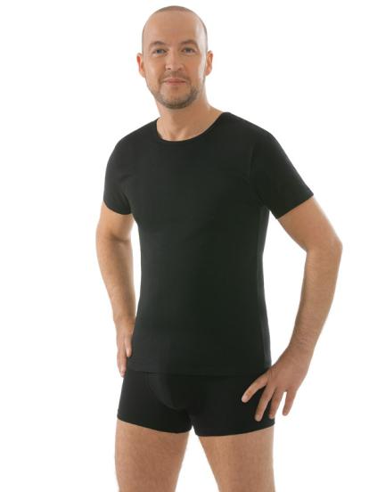 Comazo Unterwäsche, Kurzarm Shirt in schwarz - Vorderansicht