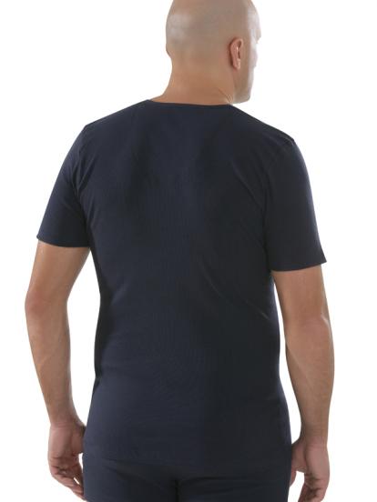 Comazo Biowäsche,Shirt mit V-Ausschnitt in navy - Rückansicht