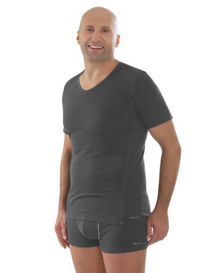 Comazo Biowäsche,Shirt mit V-Ausschnitt in anthrazit - Gesamtansicht